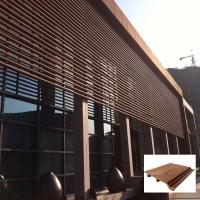 Waterproof high strength synthetic outside decorative wpc panel Manufactures