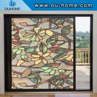 H836 Stati frosted decorative window film cellophane stained opaque bathroom glass window stickers Manufactures