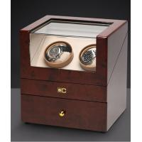 Dual Wooden Watch Case , Automatic Watch Winder With Soft Velvet Pillows Manufactures