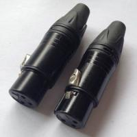 Quality Neutrik Style 3-Pin Female Plug XLR Connector All Black DA1101 for sale