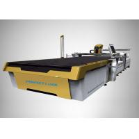 Customized CO2 Laser Cutter Automatic Fabric Cutting 3300*1700 With Vacuum Table Manufactures