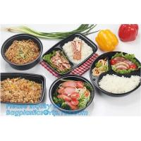Multipurpose Plastic Rigid Disposable PET Food Tray, Clear and Solid PET Container,disposable black PP food plastic cont Manufactures