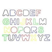 China Rainbow Letter / Alphabet Shape Rubber Silicone Elastic Silly Band For Hair Bands on sale