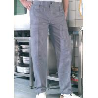 China Pilling Resistance Restaurant Work Wear Soft Striped Fabric Chefs Trousers on sale