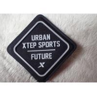 Import fabric with sewing on silicone rubber logo patch on outdoor wear Manufactures