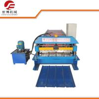 Automatic Trapezoidal Sheet Roll Forming Machine Galvanized GI / PPGI Materials Manufactures