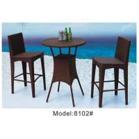3pcs wicker rattan saloon club round bar  table and 2pcs armless chairs-8102 Manufactures