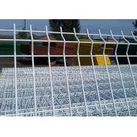 Powder Hot Dip Galvanized Garden Mesh Fencing / Welded Triangle Bending Fence Manufactures