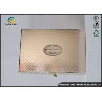 Luxury Golden Paper Cosmetic Box , Foil Stamping Art Paper Box For Valentines Manufactures