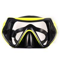 Adult Food Grade Silicone Snorkel Mask , Anti Fog Scuba Mask One Piece Lens Manufactures