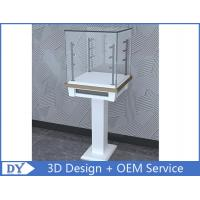 3D Design Modern Wooden Tempered Glass Jewelry Display Case For Shopping Mall Manufactures