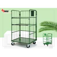 L Shaped Movable Roll Container Trolley Environment - Friendly And Healthy Refrigerated Cage With Plastic Spray