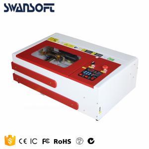 Desktop mini laser engraving cutting machine 3020 for fiber wood glass acrylic plastic Manufactures