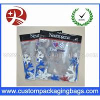 Quality Three Side Sealed Plastic Ziplock Bags Non Toxic Material For Frozen Food Packing for sale
