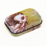 Customer hinged lid Rectangular Tin Box Gift Chocolate / Biscuit Cookie Candy Manufactures