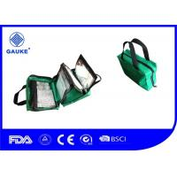 Green Emergency Medical First Aid Kits For Car With Nylon Bag / Handle Manufactures