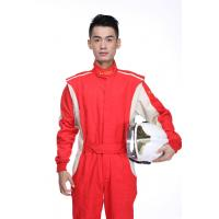 Mens Auto Car Racing Wear Custom Racing Suits White Red Blue Black Color Manufactures