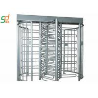 China Stainless Steel Access Control Full Height Barriers With Card Reader on sale