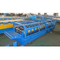 China Automatic Galvanized Ridge Cap Tile Forming Machine / Roofing Sheet Roll Forming Machine on sale