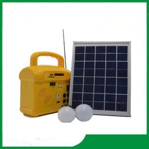 10w mini solar led lighting kits, solar led home lighting kits with FM radio, phone charger for led lighting Manufactures