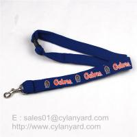 Tube Lanyard Neck Ribbon with Metal Rifle Trigger Hook, polyester tubular straps Manufactures