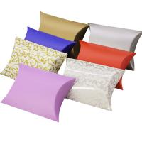 Colorful ivory paper candy chocolate packaging pillow box custom logo printing Manufactures