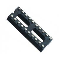 Black color  IC Socket 2*10P 180° H=3.0 Round female Header 7.62 with center bar ROHS Manufactures