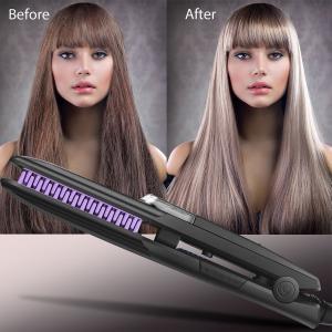 China Wet and Dryer Nano Titanium Plate digital Ionic Hair Straightener argan steam styler on sale