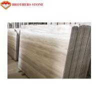 Best Selling Chinese Wooden Grain White Marble Slab Marble Floor Tiles Manufactures