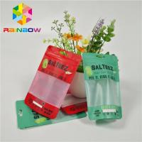 Custom Printed Plastic Bags Food Grade Packaging Bags With Clear Rectangular Window And Zipper For Reusable Storage Manufactures