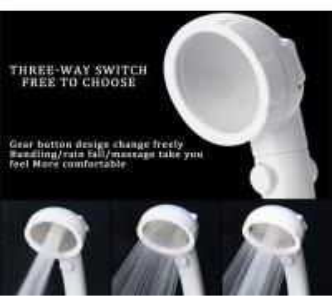 JK-2801 white color massage handheld showerheads high water pressure saving water three settings shower Manufactures