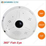 Infrared night vision 360 degree fish eye lens 3mp ip camera Manufactures