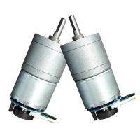 Metal DC Worm Drive Motor , Small Worm Gear Motor 50mA 14RPM No Load Speed Manufactures
