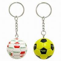 Synthetic Leather Football Keychains Manufactures