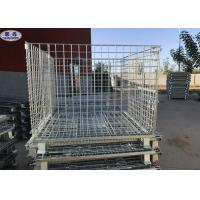 China Size Customized Wire Mesh Pallet Cages , Metal Folding Collapsible Pallet Cages on sale