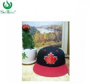 China Custom Logo Flat Bill Golf Cap / Mens Snapback Hats Customized Size on sale