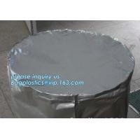 Round Bottom Heavy Duty Plastic Bags Chemical Resistant Cylinder Drum Barrel Liners Manufactures