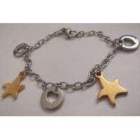 Personalized 316L Stainless Steel Chain Bracelets with Heart and Star Charms Manufactures