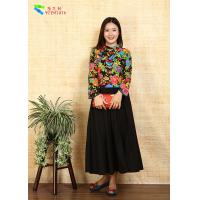 Breathable Ladies Cotton Clothing Modified Vintage Cheongsam Shirt Double Layer Quilting Manufactures