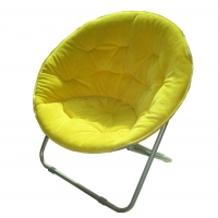 China Padded Cushion Moon Saucer Leisure Steel Camping Chair on sale