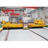 China Workshop Annealing Furnace Material Transfer Carts Electric Powered In Yellow on sale