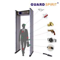 China 2 Columns Led Guard Spirit Metal Detector Security 18 Detecting Zones wholesale