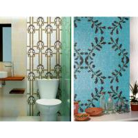 Bathroom mosaic tile recycled glass mosaic pattern customized size and design
