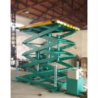 4kw High strength manganese steel Fixed hydraulic lifting platform / electric scissor lift Safety Manufactures