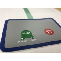 Waterproof membrane switch with 3M adhesive and 2 embossed buttons Manufactures