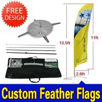 Custom Flying Banner Feather Flags Banner With Dye Sub Printing Manufactures