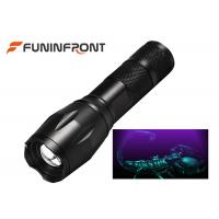Quality 3W High Power Black Light LED Flashlight 395NM Wavelength Adjustable Focus Torch for sale