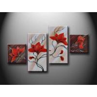 30*40cm - 90*120cm Flower Set New Design Handmade Oil Painting With Frame hht1002 Manufactures
