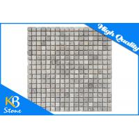 Modern Decorative Indoor Outdoor Travertine Marble Mosaic Tiles Polished Surface 10mm Thickness Manufactures