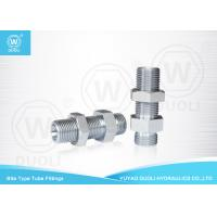 Bite Type Hydraulic Bulkhead Fittings Adapter 6D Metric Thread 24 Degree H.T. Manufactures